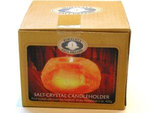 Salt-Crystal Votive Candle Holder
