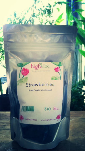 HighVibe- Strawberries Dried / Wild / Apple Juice Sweetened - Bulk 8oz