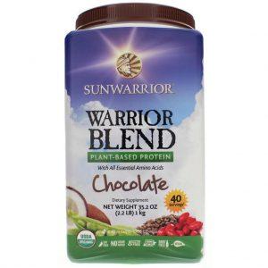 Sunwarrior Warrior Blend, Protein Powder, Chocolate