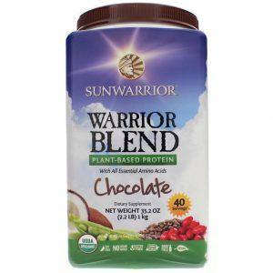 Sunwarrior Warrior Blend, Protein Powder, Chocolate