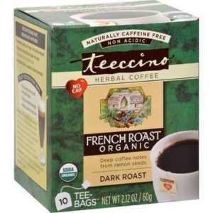 Teeccino Herbal Coffee French Roast Dark Roast 10 Tee / Tea Bags