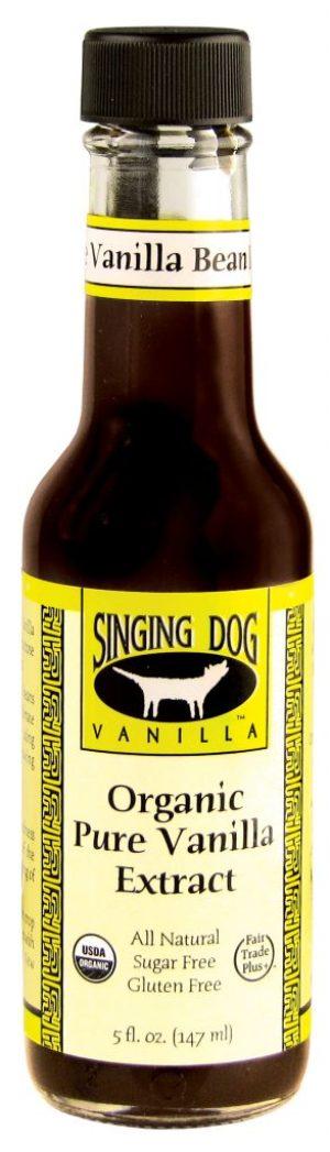 Singing Dog Organic Pure Vanilla Extract 5oz