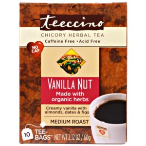 Teeccino Herbal Coffee Vanilla Nut 10 Tee / Tea Bags