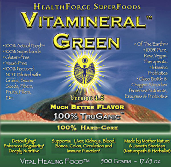 HealthForce Superfoods - Vitamineral Green, 500 Grams Powder
