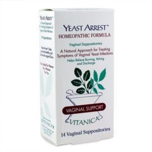Yeast Arrest Vaginal Suppositories 14 Suppositories