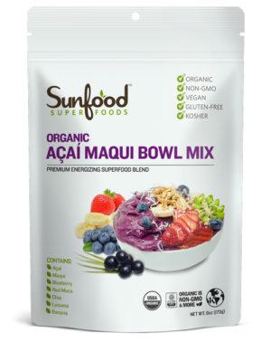 Sunfood Acai Maqui Bowl Mix 6 oz