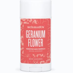 Schmidt's Natural Sensitive Deodorant Geranium Flower 3.25 oz
