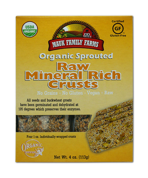 Mauk Family Farms Raw Mineral Rich Crusts - Sprouted Organic 4 oz