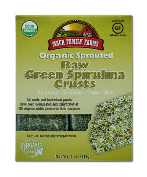 Mauk Family Farms Raw Green Spirulina Crusts - Sprouted Organic 4 oz