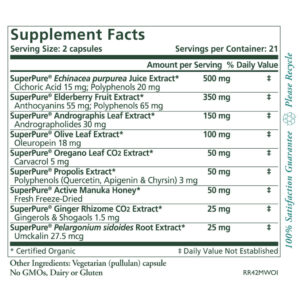 Pure Synergy Rapid Rescue 42 capsules