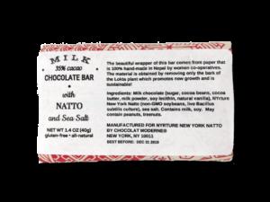 New York Natto - Milk Chocolate Bar (1.4 oz)