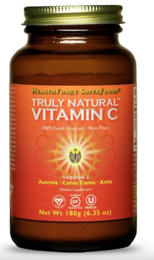 HealthForce Truly Natural™ Vitamin C – 180g Powder