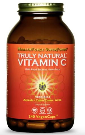 HealthForce Truly Natural™ Vitamin C – 240 VeganCaps™