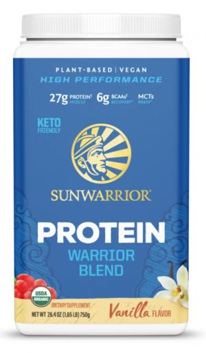 Sunwarrior Vanilla Warrior Blend Organic 30 servings powder