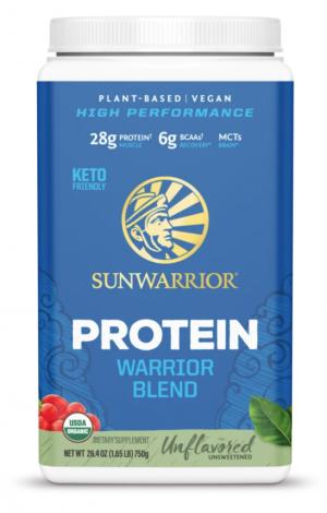 Sunwarrior UnflavoredWarrior Blend Organic 30 servings powder