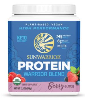 Sunwarrior Berry Warrior Blend Organic 15 servings powder