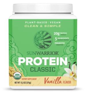 Sunwarrior Vanilla Classic Protein 15 servings powder