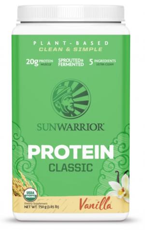 Sunwarrior Vanilla Classic Protein 30 servings powder
