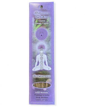 Prabhujis Gifts- Incense Sticks Crown Chakra Sahasrara - Enlightenment- 10 sticks