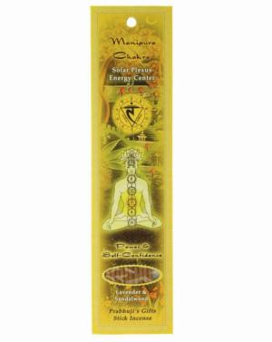 Prabhujis Gifts- Incense Sticks Solar Plexus Chakra Manipura - Power and Self-confidence- 10 sticks