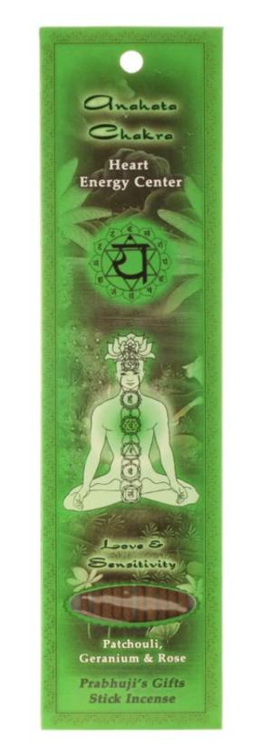 Prabhuji's Gifts- Incense Sticks Heart Chakra Anahata - Love and Sensitivity